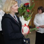 Mūs sveic Labklājības departamenta pārstāve Foto: M. Vilemsons