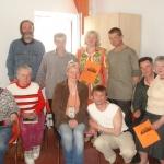 LSIA Aspazija brīvprātīgās rokdarbnieces kopā ar saviem audzēkņiem - Dienas patversmes iemītniekiem